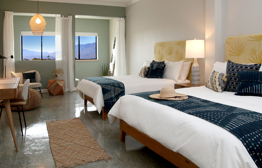 Guest Rooms at Azure Palm Hot Springs Resort