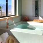 In-room private mineral water soaking tub
