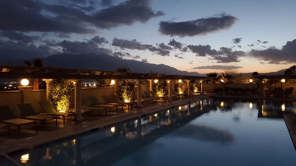 Evening at Azure Palm Hot Springs
